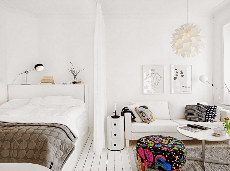 Объединяя пространство: планируем стильный дизайн спальни-гостиной 16 кв. метров