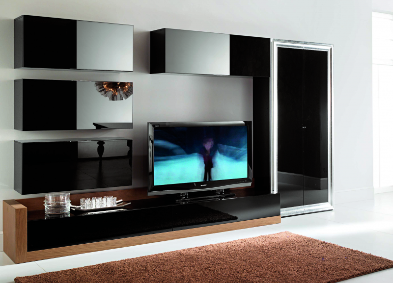 Модульная стенка в гостиную в современном стиле