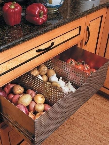 Выдвижные идеи для кухни