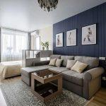 Варианты стильного и недорогого интерьера для однокомнатной квартиры