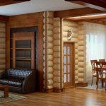 Современные варианты внутренней отделки деревянного дома