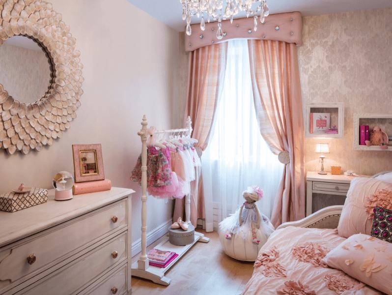 Шторы в детскую комнату девочки: все нюансы выбора и 70+ вдохновляющих реализаций в интерьере
