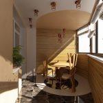 Примеры дизайна интерьера для современного балкона