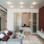 Дизайн интерьера совмещенных гостиной и спальни