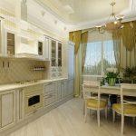 Преображение дизайна кухни при помощи тюля