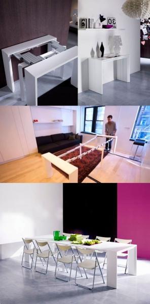 Стол-трансформер для гостиной: функциональное решение для любой площади