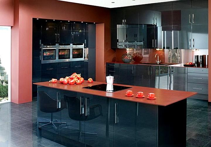 Использование терракотового цвета при оформлении комнаты