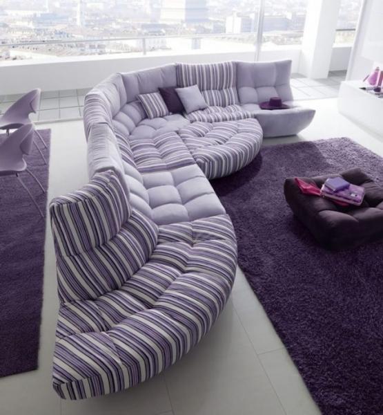 С какими цветами сочетается фиолетовый, лучшее его применение в интерьере