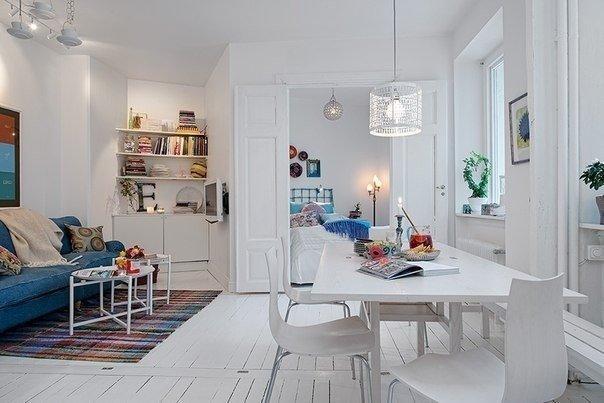 Двухкомнатная квартира в скандинавском стиле