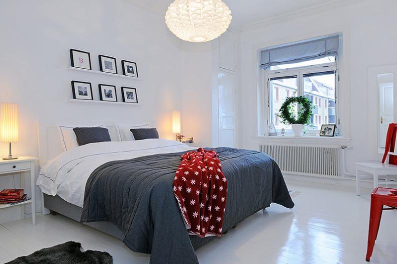Скандинавский стиль интерьера в спальне