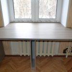 Конструкции и материалы подоконников-столешниц