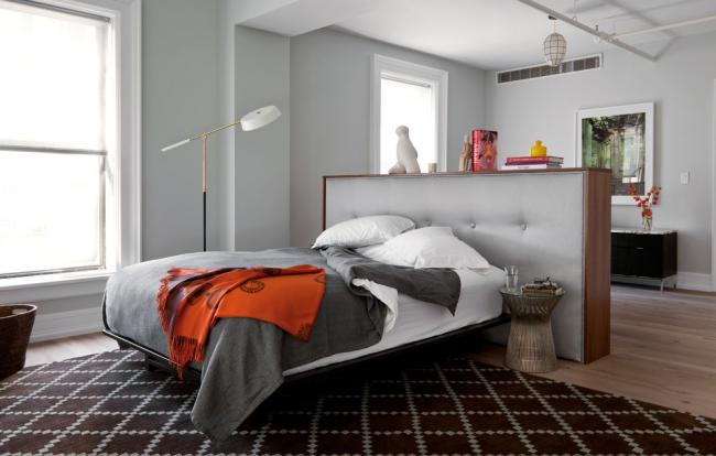 Гостиная и спальня в одной комнате: 120+ примеров комфортного зонирования