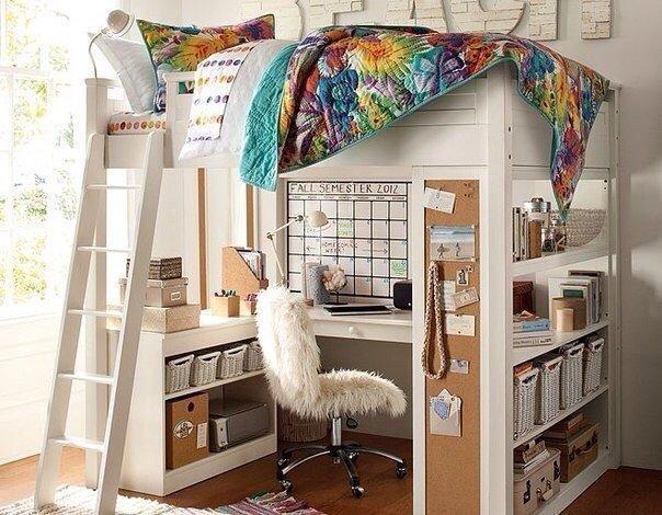 Экономия места в детской комнате