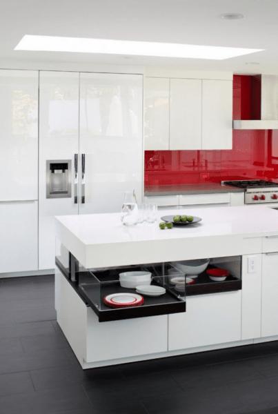 Кухни красного цвета: 70+ самых трендовых и сочных решений для тех, кто не боится экспериментировать