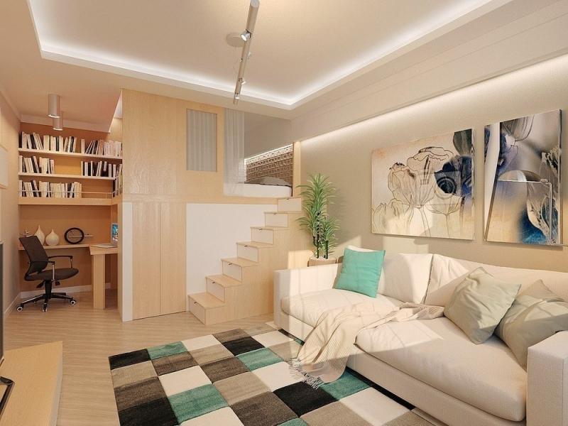 Дизайн гостиной. Зонирование