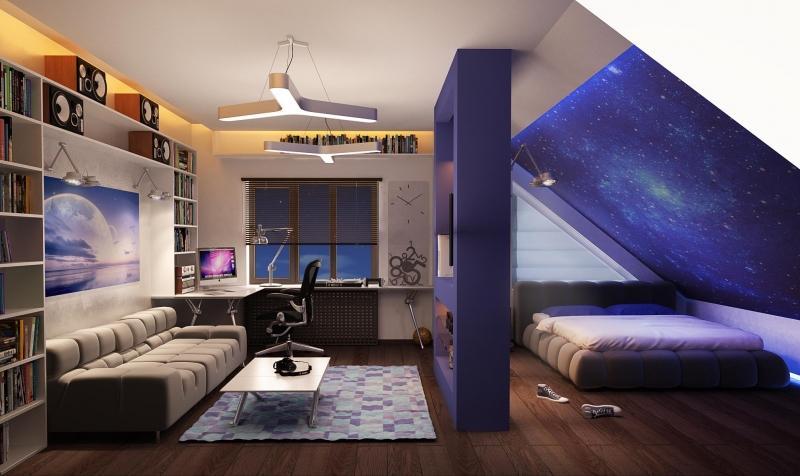 Идеи дизайна мансарды с двускатной крышей