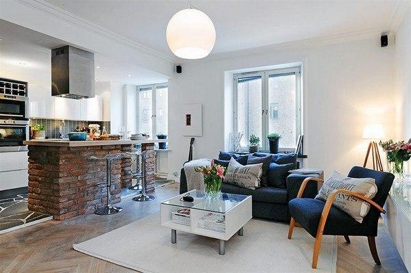 Шведское решение для квартиры-студии.