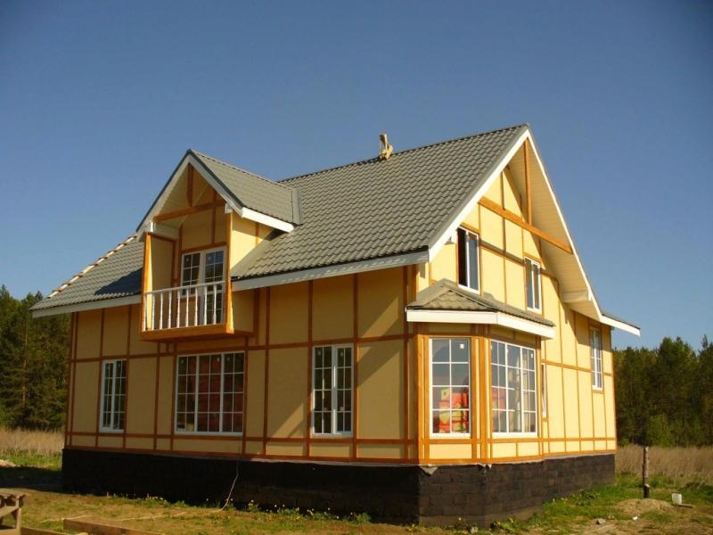 Строительство каркасно-щитового дома для постоянного проживания