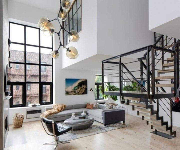 Двухуровневая квартира в Нью-Йорке