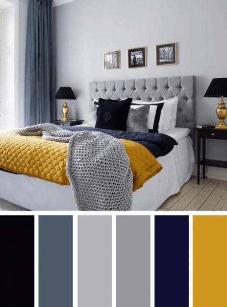 Теплая охра, сочный лимон и цитрин: 100+ идей дизайна интерьера спальни в желтых тонах