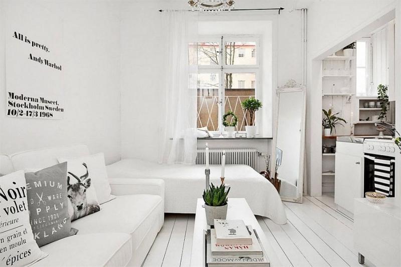 Оформление квартиры-студии 18 кв.м