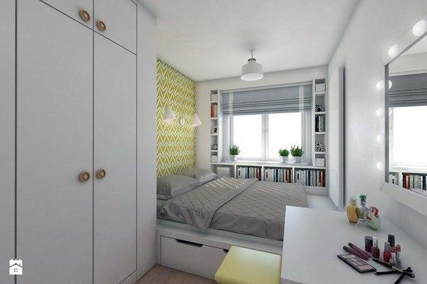 Дизайн интерьера небольшой спальни