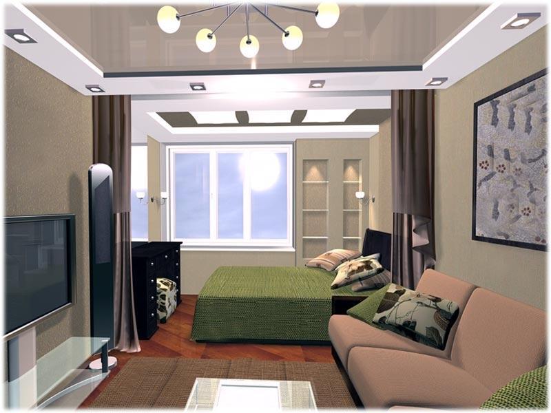 Зонирование комнаты на гостиную и спальню: удобно и стильно