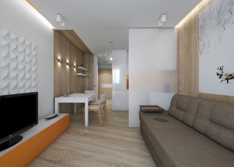 Проектируем дизайн квартиры-студии площадью 28 кв. м