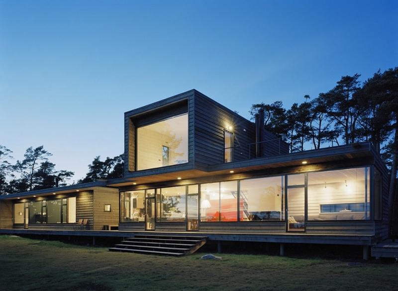 Villa Plus на берегу Балтийского моря от Waldemarson Berglund Arkitekter