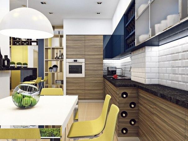 Двухкомнатная квартира с элементами эко-стиля Небольшая двухкомнатная квартира для