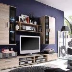 Современная стенка-горка для обустройства гостиной
