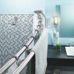 Различные виды штанг для ванной комнаты и способы их установки