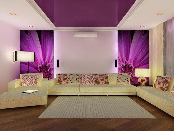 Чернично-фиолетовый цвет в интерьере