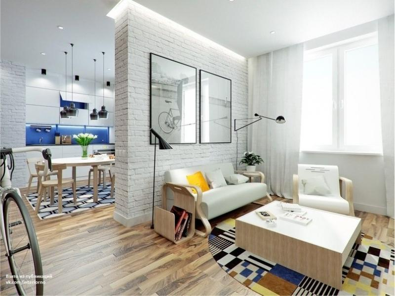 Проект небольшой квартиры площадью 43,5 кв.м.Автор проекта - Антон Севастьянов