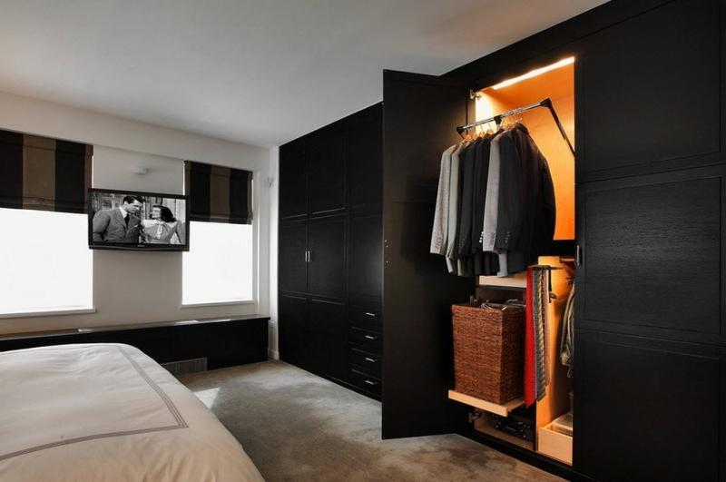 Гардеробная в спальне: как спроектировать и основные преимущества
