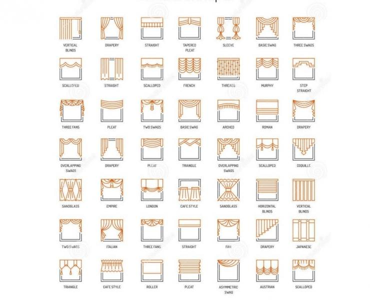 Шторы для зала: фото, дизайн 2018 года
