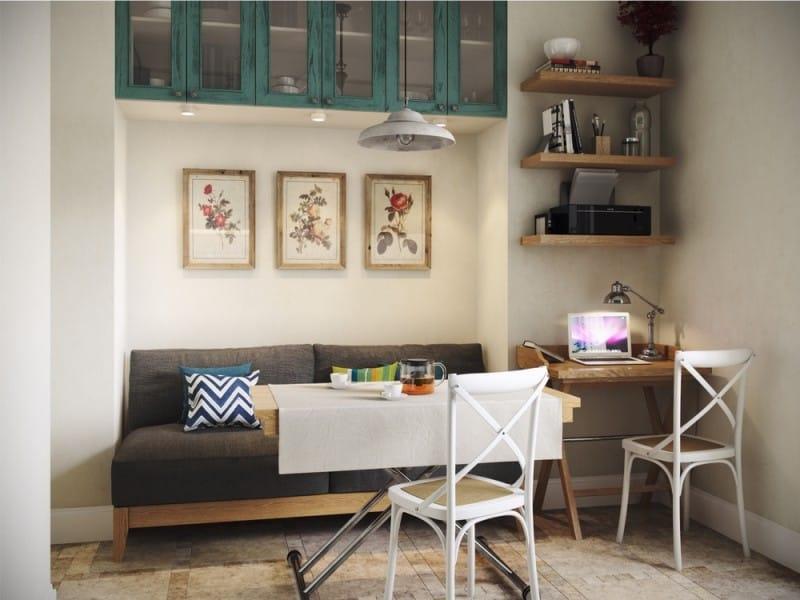 Дизайн квартиры студии площадью 20 кв. м