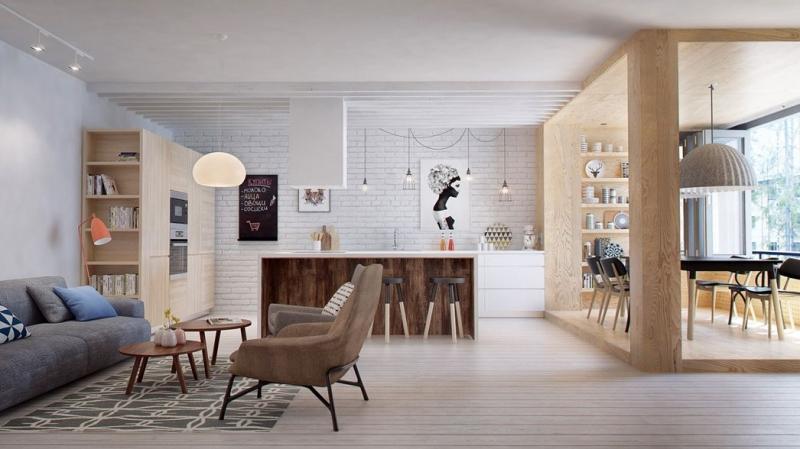 Квартира для молодой пары в Санкт-Петербурге: функционально и эстетично