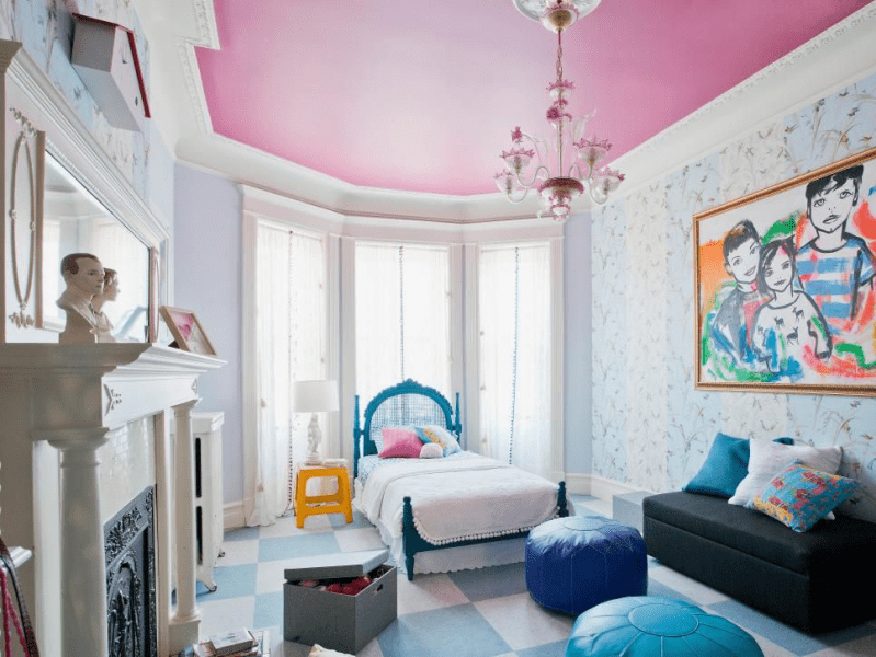 Натяжные потолки в детскую комнату (110 ярких фотоидей): стильные варианты оформления для комнаты мальчика и девочки