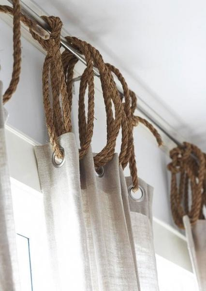 Нестандартное применение веревки в интерьере