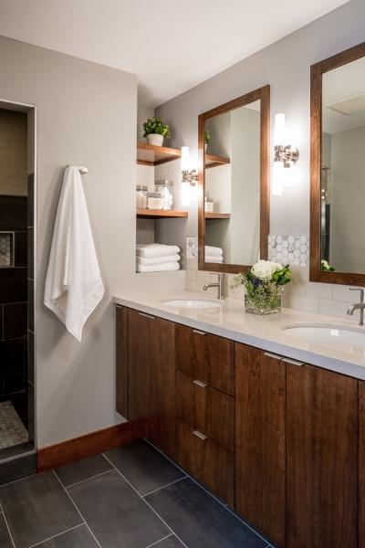Стильные аксессуары для ванной комнаты