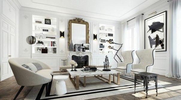 Дизайн квартиры в парижском стиле))