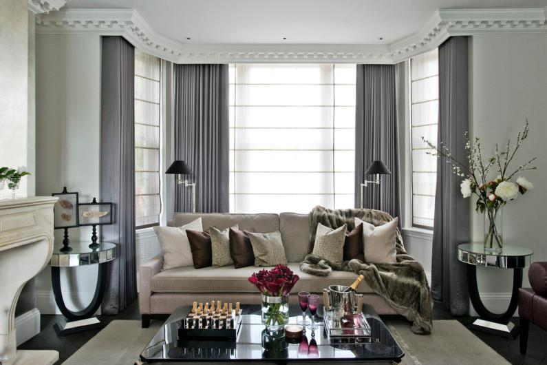Выбор цвета для гостиной в разных стилях