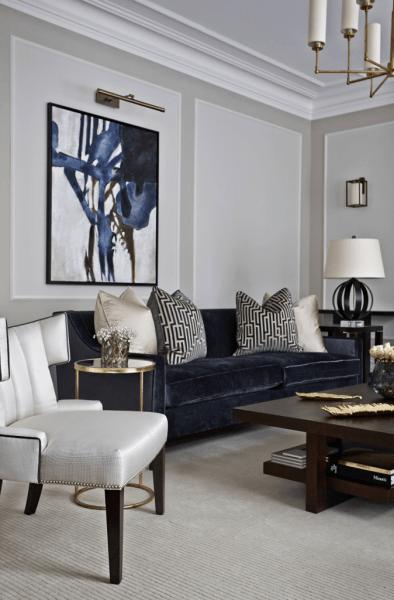 Дизайн черно-белой гостиной: 65+ вдохновляющих идей элегантного монохрома