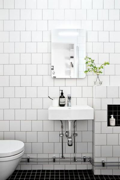 Маленький санузел: выбираем плитку для облицовки стен и пола
