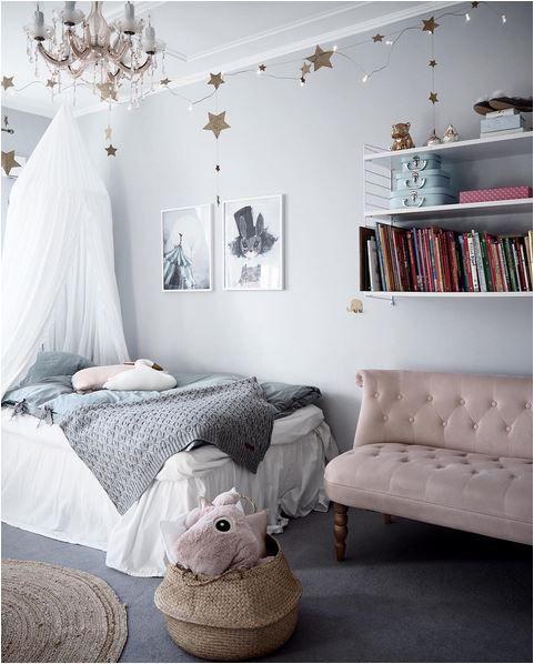 Детская комната в сером цвете