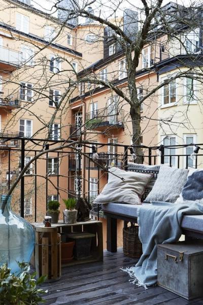 Городской балкон осенью: несколько идей