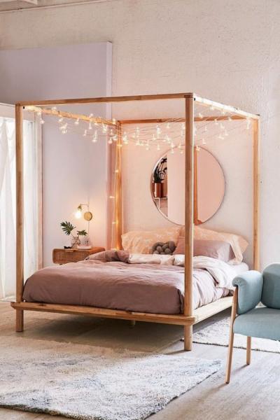 Балдахин в современном интерьере спальни