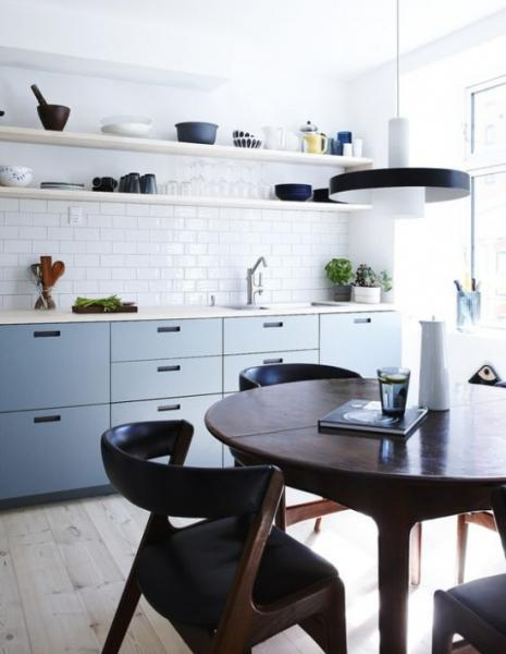 Синий цвет в интерьере кухни: дизайнерские хитрости и красивые примеры