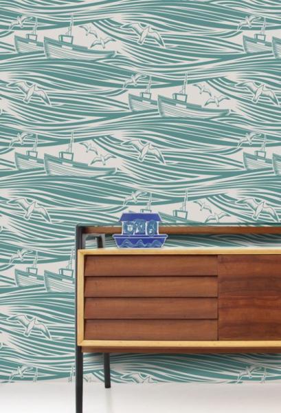 Современная детская комната в морском стиле